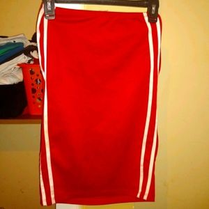 Red and white Pencil skirt
